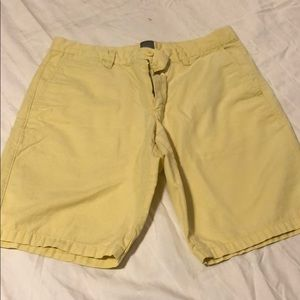 Gap men's shorts. Yellow size 32.